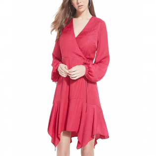 Women's 'Hanna Asymmetrical' Long-Sleeved Dress
