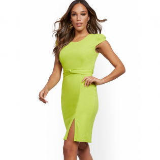 Women's 'Cap Sleeve Sheath' Sleeveless Dress