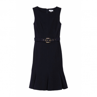 Women's 'Belted Ruffled' Sleeveless Dress