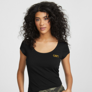 Women's 'Isabel Sequin Logo' T-Shirt
