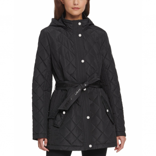 Women's 'Water-Resistant Belted' Quilted Jacket