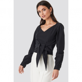 Women's 'Tied Waist Puff Sleeve' Blouse