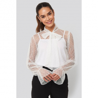 Women's 'Bow Tie Dotted' Blouse
