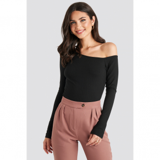 Women's 'Ribbed One Shoulder' Long sleeve top