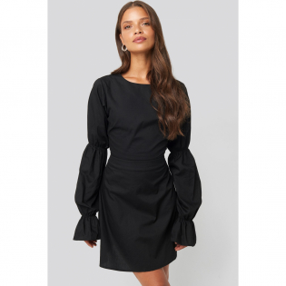 Women's 'Open Back LS' Mini Dress