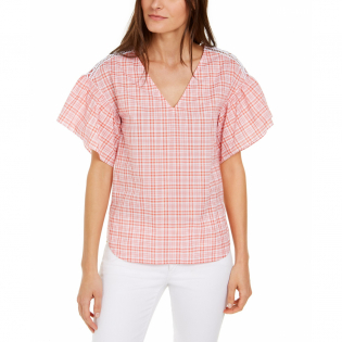 Women's 'Glam Plaid' Top