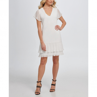 Women's 'Pleated' Short-Sleeved Dress