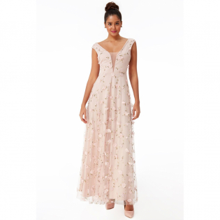 Women's 'Three D Flower' Maxi Dress