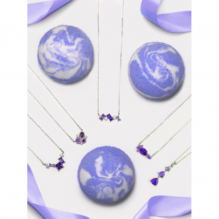 Amethyst' Bath Bomb Set - Necklace Collection