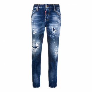 Women's 'Turn-Up Distressed' Jeans