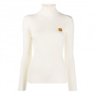 Women's 'Tiger Patch' Turtleneck Sweater