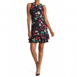 Women's 'Floral Sleeveless Ruffled' Mini Dress