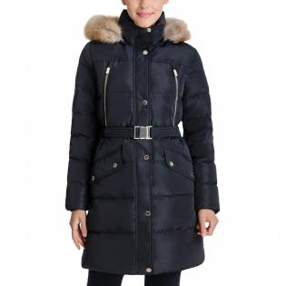 Women's 'Belted Hooded' Puffer Coat