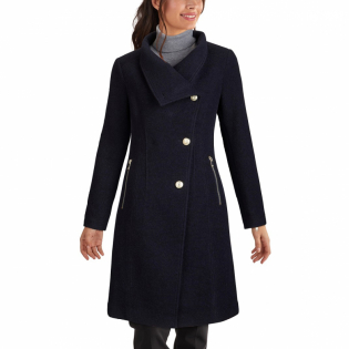 Women's 'Asymmetrical Stand-Collar' Coat