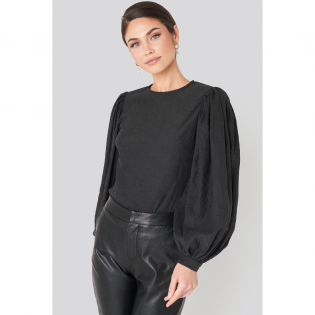 Women's 'Puff Sleeve Round Neck' Long Sleeve top