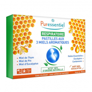 Respiratory Pastilles with 3 Aromatic Honeys - 24 Pastilles