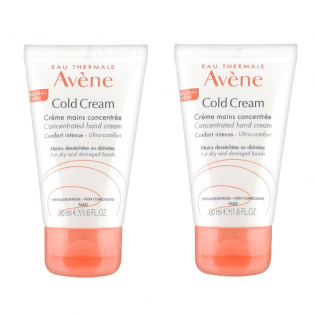 Hand cream with cold cream - Pack of 2 x 50 ml