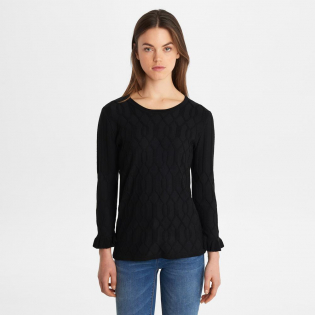 Women's 'Cable With Ruffle Sleeve' Sweater