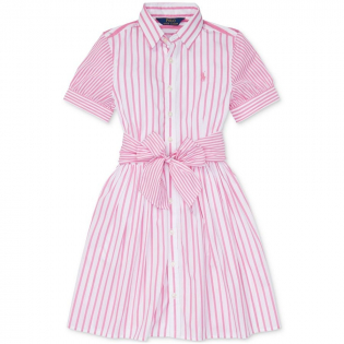 Big Girl's 'Striped' Shirtdress