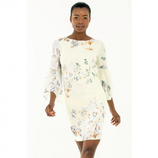 Women's 'Floral' Long-Sleeved Dress