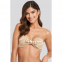 Women's 'Smocked Striped Knot Bandeau' Bikini Top