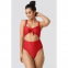 Women's 'Ribbed Cut Out Knot' Swimsuit